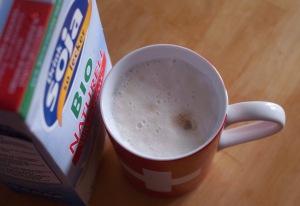 Milschschaum von Sojamilch