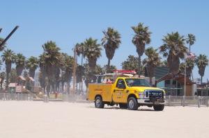 Rettungsfahrzeug an Venice Beach